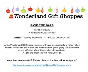 SAVE THE DATE-Wonderland Gift Shoppe